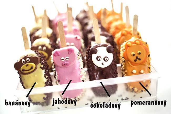 Assorted cakes on sticks