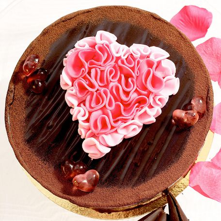 Chocolate batul with 3D heart