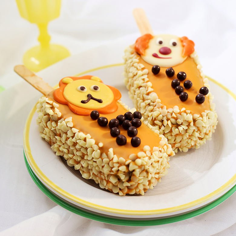 Orange cake on a stick