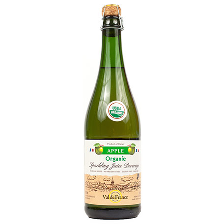 Organic sparkling juice – apple, 0.75l