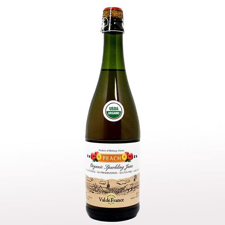 Sparkling apple juice with peaches, 0.75l