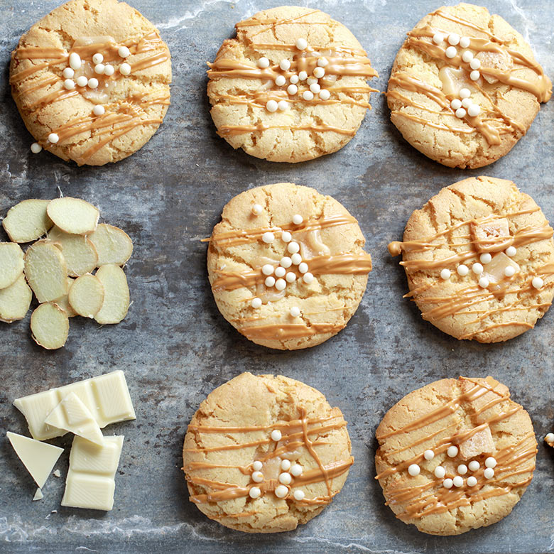 Cookies – ginger & white chocolate