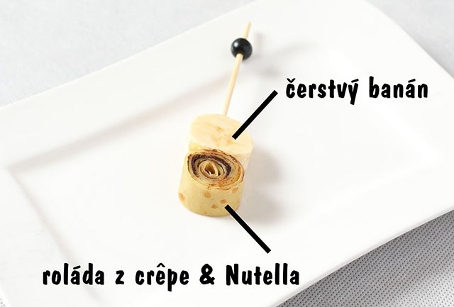 Crêpe roll – banana & nutella